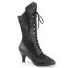 DIVINE-1050 Black Faux Leather/Lace